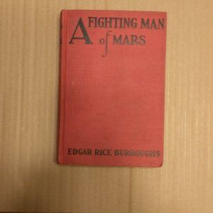 Vintage Book A Fighting Man Of Mars Burroughs